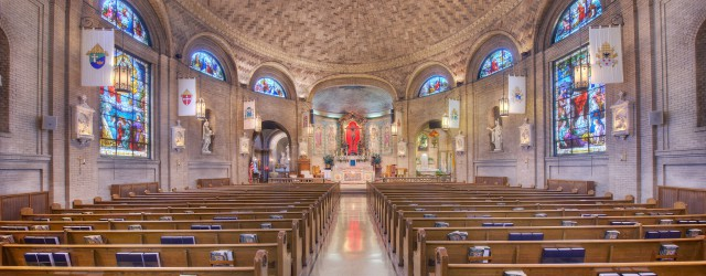 In 1905 Asheville's Catholic community built the Basilica of St. Lawrence, a church specially designated by the pope for its dramatic architecture. . .