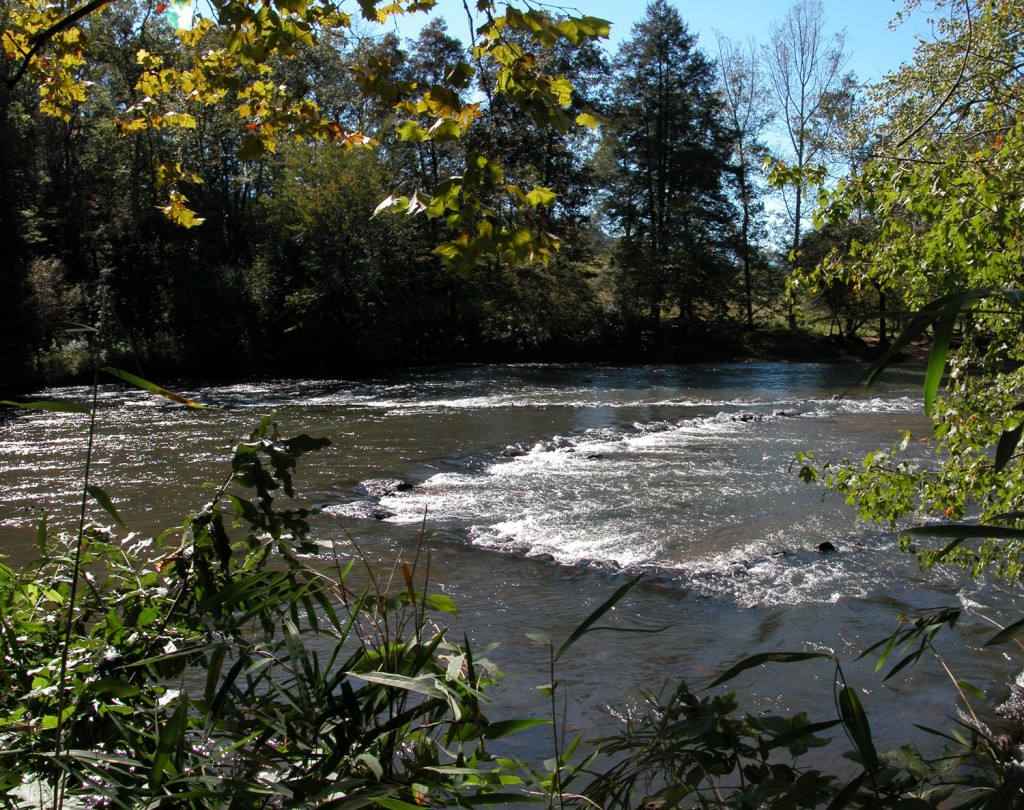 A Fishing Weir on the Little Tennessee River in Macon County. Photo by Ralph Preston of the Land Trust of the Little Tennessee