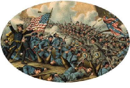 Civil War Battle Depiction