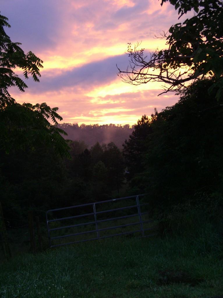 Sunset in Brasstown, NC