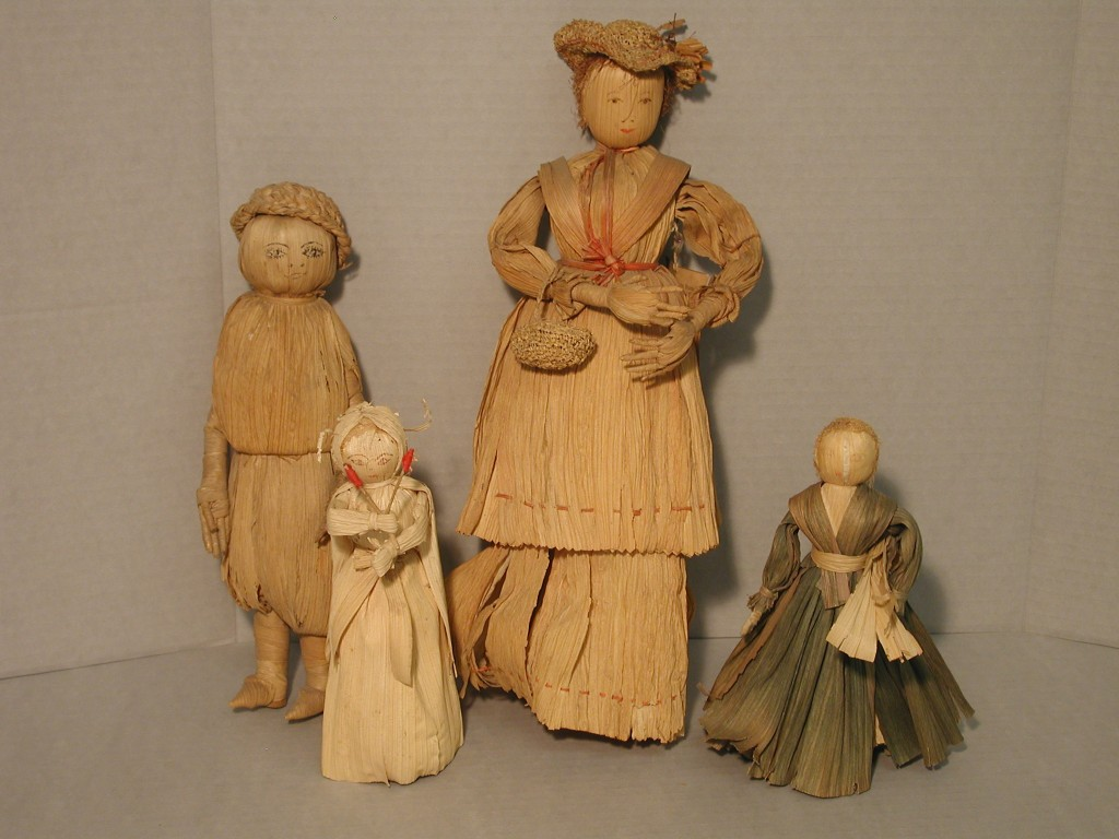 A Corn husk Family from Allenstand, part of the John Parris Collection