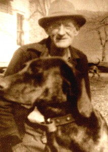 Gola Ferguson and his dog Jap.  Courtesy of Bob Plott.