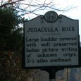 Judaculla Rock, located along Caney Fork Creek in Jackson County, is North Carolina's largest example of a Native American petroglyph, or rock carving. . .
