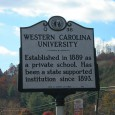 In 1935, North Carolina created one of the nation's first highway historical marker programs to point out places of historic interest to the motoring public.  Over 1400 of the silver and black highway signs have been erected throughout the state. . .