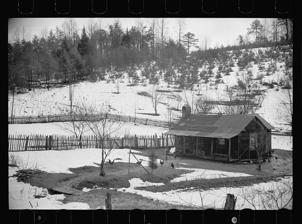 Mountain Farmhouse In Appalachian Mountains